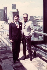 con Mario en la Terraza de su oficina en Mex