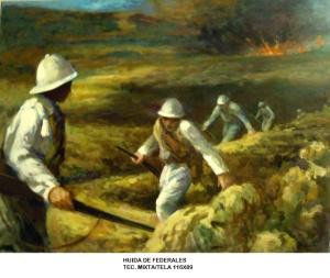 Poco pudieron hacer los  hombres federales ante el despliegue de hombres que organizó Villa para la toma de Zacatecas. A parte. los cañones sirvieron de apoyo a la infantería villista, así pues, lo único que quedaba para los federales era huir por salvar sus vidas.